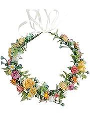 SacJkt Rose bloem kroon, bloemen krans hoofdband, kleurrijke boheemse bruids bloem haar krans voor bruiloft partij