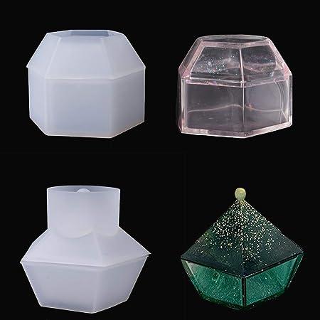 Finelnno Moldes de Fundición de Resina,Molde de Caja de Joyería, Caja de Almacenamiento de Molde,Box Resin Molds de Fabricación de joyas artesanales (Moldes de Fundición): Amazon.es: Hogar