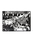 Wiberlux Prada Men's Animal Print Real Leather Card Wallet