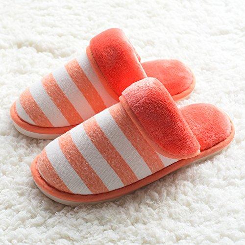 Fankou autunno inverno cotone pantofole comode le coppie caldo cotone pantofole home pantofole uomini antiscivolo pantofole di cotone inverno ,43/44, grigio