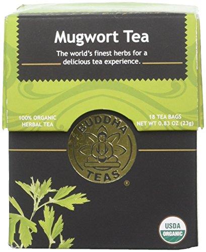 Organic Mugwort Tea, 18 Bleach-Free Tea Bags - Organic Tea Improves Digestion, and Acts as an Emotional Relaxant, No GMOs