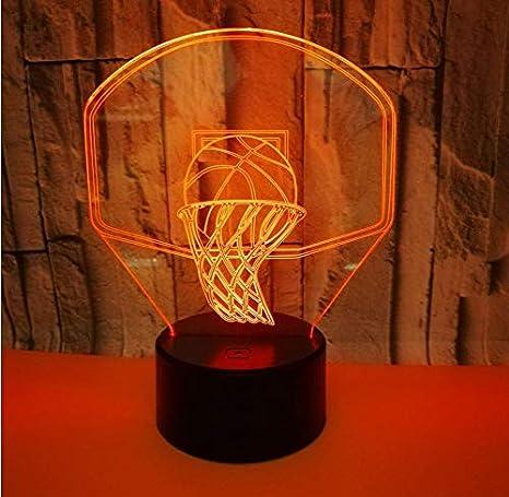 Acrílico Baloncesto Ilusión Óptica Lámpara De Lava 3D ...