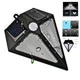 Solar Accent Lights New Energy Light Diomend Shape Wide Angle Design Motion Senser IP65 24LED Waterproof Night Outdoor Garden Yard Torch Deck Wall Fence Patio 1PACK Review