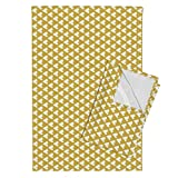 Teepee Tepee Triangles Gold Mustard Tribal Southwest Tea Towels Golden Teepee 90 Deg by Mrshervi Set of 2 Linen Cotton Tea Towels