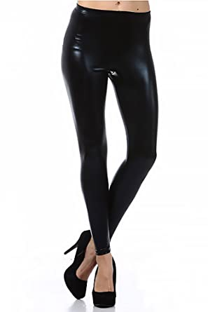 b08c8bd19 World of Leggings® Shiny Faux Leather Leggings - Made in The USA at ...