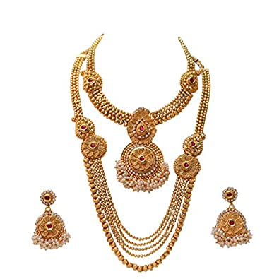 caed3788e Buy Swarajshop Copper Gold-Plating Necklace Set for Women's Online at Low  Prices in India | Amazon Jewellery Store - Amazon.in