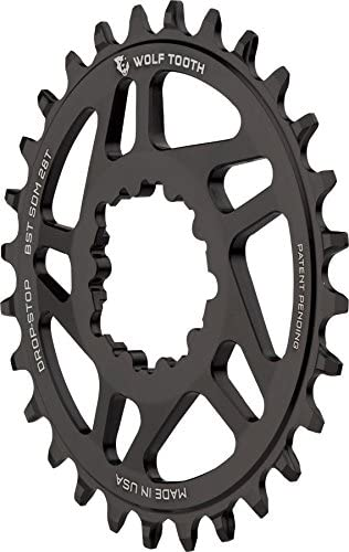 Wolf Tooth Components drop-stop Chainring : 28t、SRAMダイレクトマウント、3 mmオフセット、for Boost Chainline