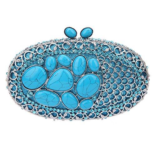 - Fawziya Natural Stone Kisslock Purses And Handbags For Womens Bags-Turquoise