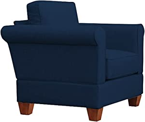 Furniture For Living Gregory Big Chair with Oak Legs, Denim