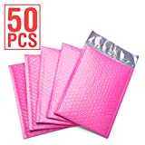 Fu Global #0 6x10'' Poly Bubble Mailer Pink Self Seal Padded Envelopes Pack of 50