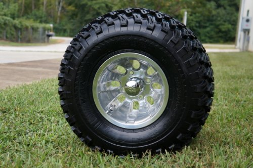 and Tires Combo Set of 4 Machined/Polished w/ All Terrain Tires ()