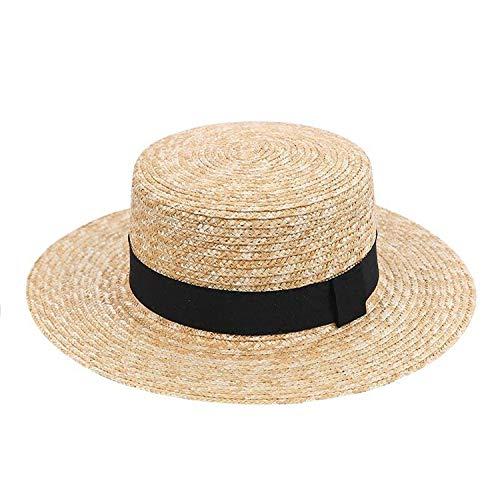 Straw Sun Hat Fashion Chapeau Paille Summer Lady Sun Hats Boater Wheat Panama Beach Hats Chapeu Feminino -