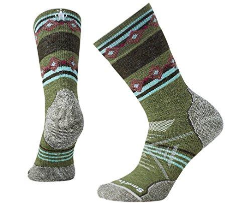Smartwool Women's PhD Outdoor Medium Pattern Crew Socks (Light Loden) Large