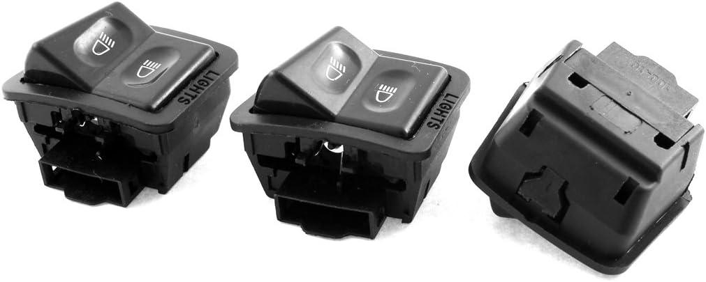 3pcs 2 Position Headlight Light Push Bottom Switch