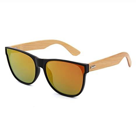 Gafas de Sol Natural Bamboo Feet Bamboo Wood UV400 Anti-UV ...