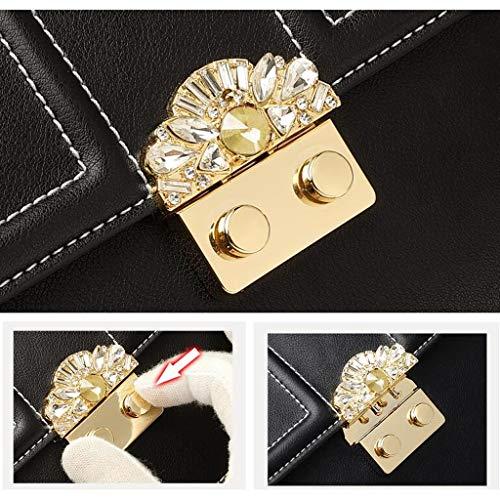Versin de para Wild The Leather Bolso Color Negro Fashion Invierno Bandolera e Mujer Coreana Otoo porttil Negro Messenger zCqBw0