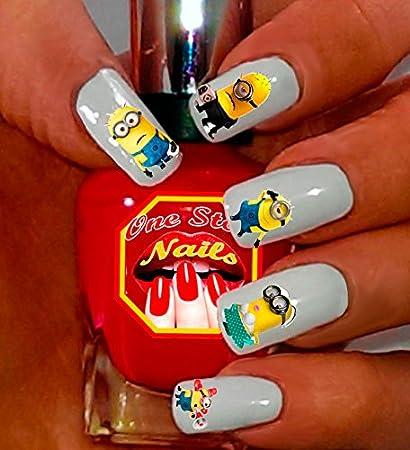 Amazon.com: Minions Nail Decal, Tattoo, Nail Sticker, Nail Art, Minions  Nail Art, Minion Face Decal, Despicable Me Movie MN007-60 by One Stop Nails:  Beauty - Amazon.com: Minions Nail Decal, Tattoo, Nail Sticker, Nail Art