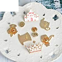 14Pcs//Set Alices Adventures in Wonderland Brooches Brooch Pin Badge Emblem Corsage Button Pins Denim Jacket Jewelry Gift for Kids Girls