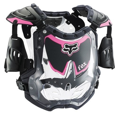 Fox Racing Youth Girl's R3 Roost Deflector - Small/Black/Pink (Womens Model Chest Protector)