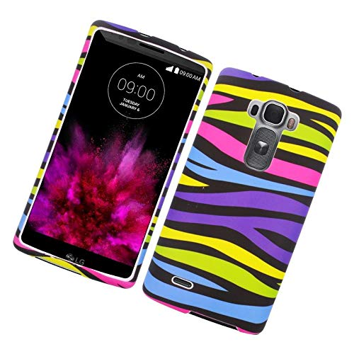 Insten Zebra Rubberized Hard Snap-in Case Cover Compatible with LG G Flex 2, Colorful