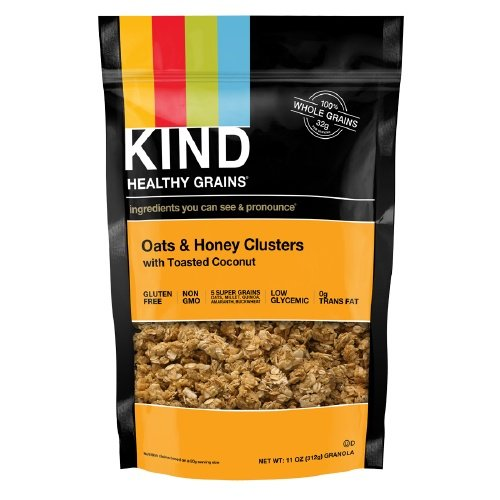 KIND Healthy Grains Clusters, Oats & Honey with Toasted Coconut 11 oz (Pack of 2)