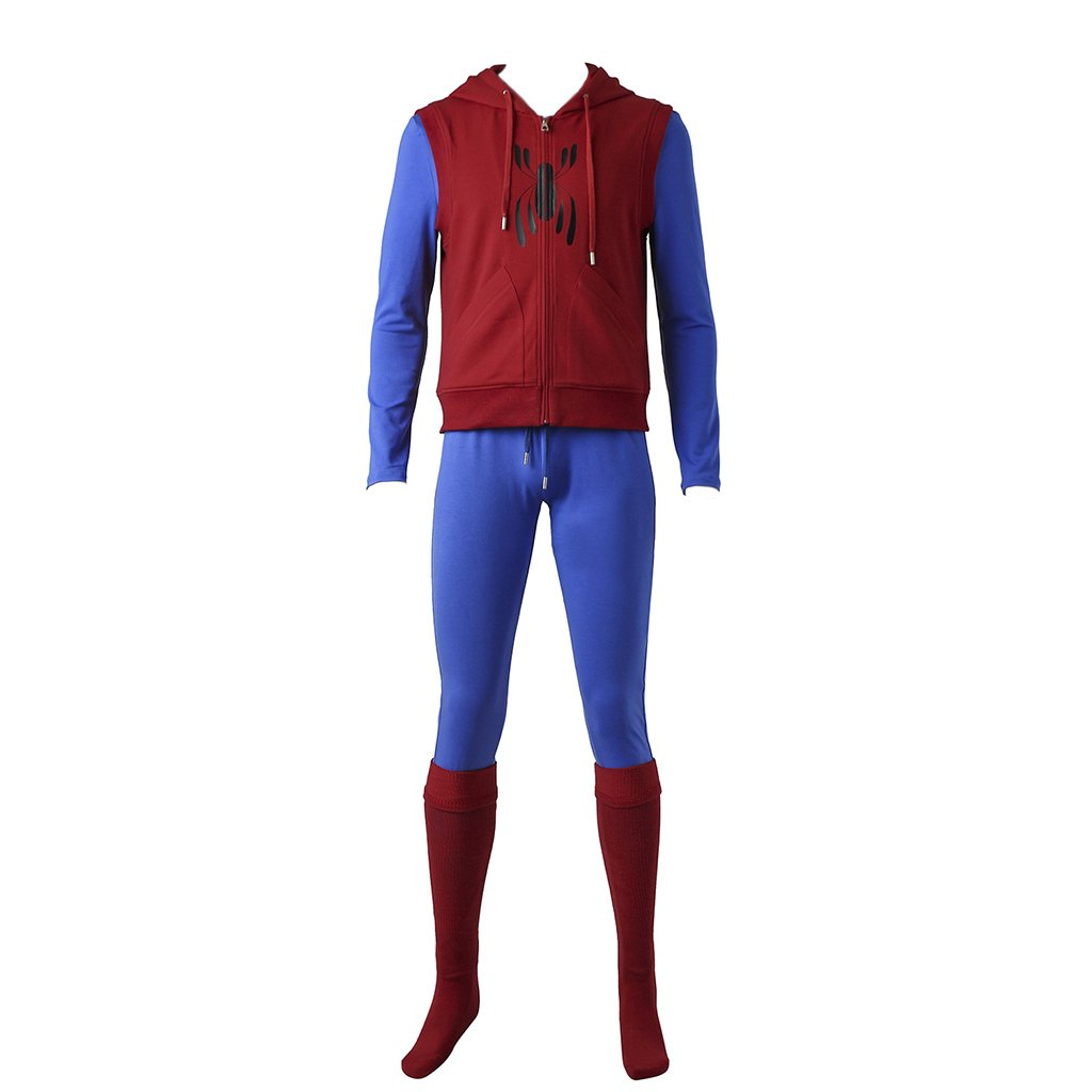 CosplayDiy Men's Suit for Spider-Man:Homecoming Cosplay Costume S