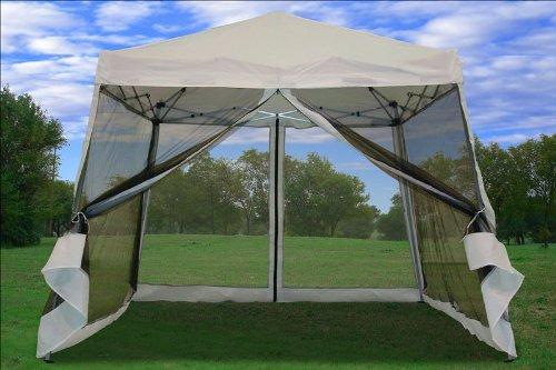 8X8 10x10 Pop Up Canopy Party Tent Gazebo Ez With Net White