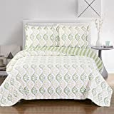 Gia Twin / Twin-Extra-Long Size, Over-Sized Coverlet 2pc set, Luxury Microfiber Printed Quilt by Royal Hotel