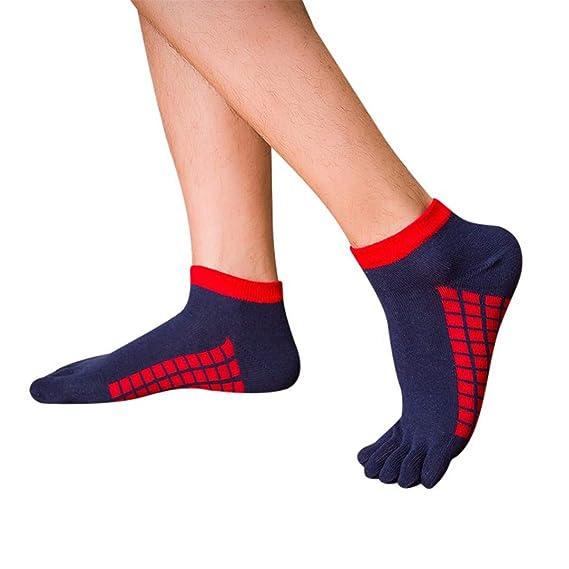 Amazon.com : HAIsangyunae Mens Toe Yoga Cotton 5 Fingers ...