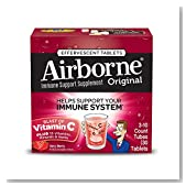 Airborne Very Berry Effervescent Tablets, 30 count - 1000mg of Vitamin C - Immune Support Supplement