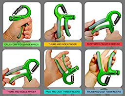 Hand Grip Strengthener Best Forearm Exerciser for Increasing Finger, Wrist, & Arm Strength Featuring Non-Slip Grips & Adjustable Resistance 88-22 lbs. for Beginner Weight Lifters or Physical Therapy