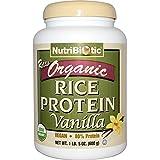 NutriBiotic, Raw Organic Rice Protein, Vanilla, 1 lb 5 oz (600 g) - 2pc