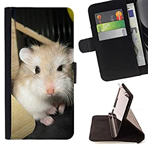 King Air - Premium PU Leather Wallet Case with Card Slots, Cash Compartment and Detachable Wrist Strap FOR LG OPTIMUS L90- Dog Cute Puppy Pet Paws