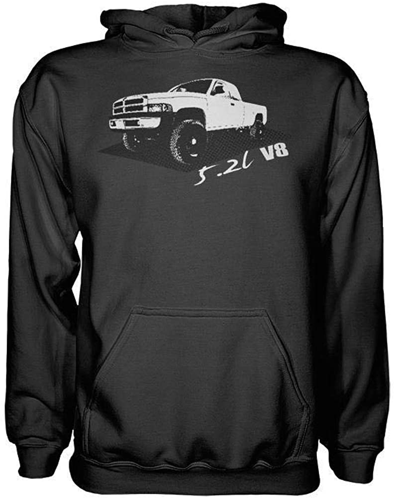 Second 2nd Gen Dodge Ram 5.2 Liter V8 Hoodie Sweatshirt