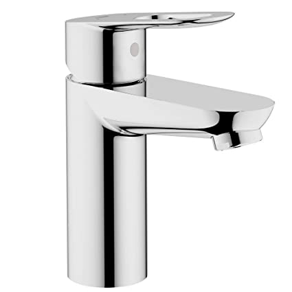 Grohe 23085000 BauLoop Single Hole 1-Handle Low Arc Bathroom Faucet ...