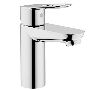 Grohe 23085000 BauLoop Single Hole 1 Handle Low Arc Bathroom Faucet In  Starlight Chrome