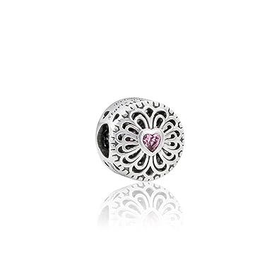 0806f43db Amazon.com: Pandora Sterling Silver Love & Friendship Charm 791955PCZ:  Jewelry