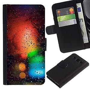 LECELL--Cuero de la tarjeta la carpeta del tirón Smartphone Slots Protección Holder For Samsung Galaxy S3 III I9300 -- Colores Bokeh --