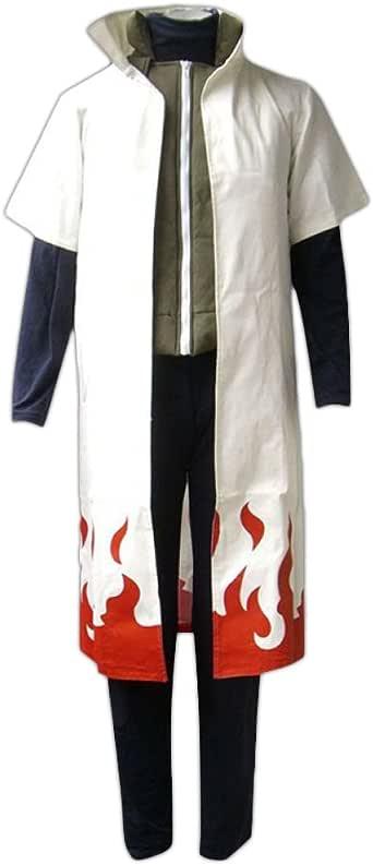 Amazon.com: Naruto Cosplay Costume-Yondaime Hokage 1st ...