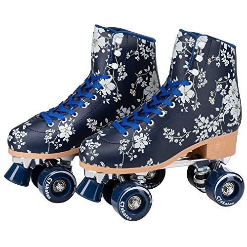 C SEVEN Cute Roller Skates for Girls and Adults (Blossom, Men's 10 / Women's 11)