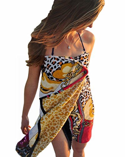 Simple Sarongs Women's Beach Towel Swimsuit Cover-up Wrap One Size Leopard