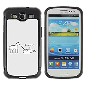 Hybrid Anti-Shock Defend Case for Samsung Galaxy S3 / Unicorn & Horse wangjiang maoyi