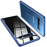 TORRAS Crystal Clear Galaxy S10 Case, [Anti-Yellow] Ultra Thin Slim Fit Soft Silicone TPU Cover Phone Case for Samsung Galaxy S10, Glossy Blue