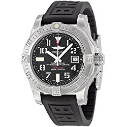 Breitling Avenger II Seawolf Black Dial Black Rubber Automatic Mens Watch A1733110-BC31BKPD3