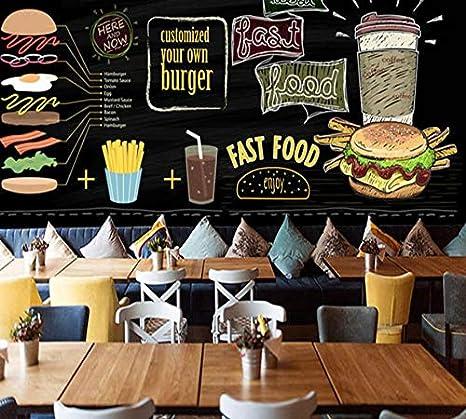 3d hamburguesa de dibujos animados tienda de papel tapiz ...
