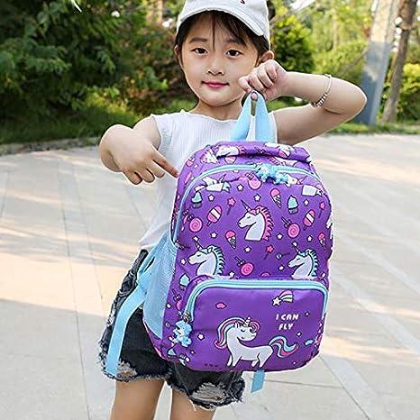 Chytaii Sac /à Dos Enfant Sac Scolaire Cartable Sac pour Maternelle Garderie pour Enfants B/éb/é Sac Voyage Portable Licorne Mignon
