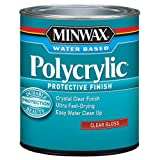 how to refinish cabinets Minwax 255554444 Minwaxc Polycrylic Water Based Protective Finishes, 1/2 Pint, Gloss
