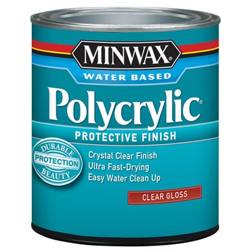 (Minwax 255554444 Minwaxc Polycrylic Water Based Protective Finishes, 1/2 Pint, Gloss)