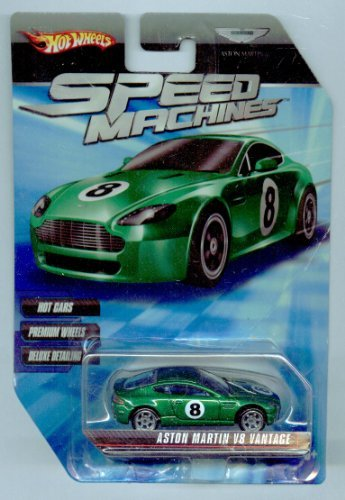 Hot Wheels Speed Machines Aston Martin V8 Vantage GREEN 1:64 Scale