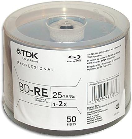Bo/îte /à g/âteaux, 137 x 137 x 52 mm disques Vierges Blu-Ray TDK 25 x BD-R 25GB